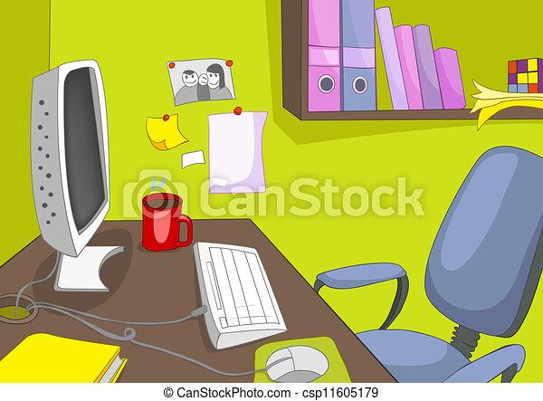 lugar, escritório - csp11605179