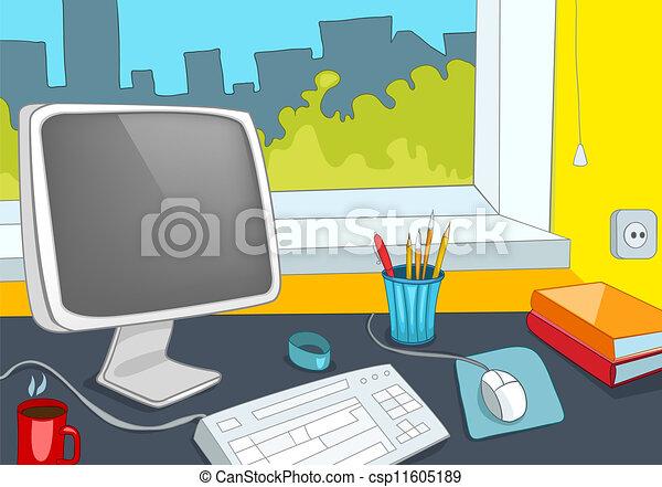 lugar, escritório - csp11605189