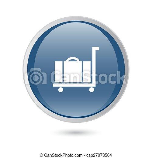 luggage icon. blue glossy web icon - csp27073564