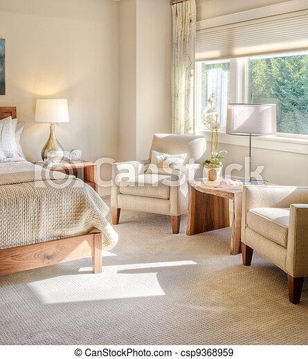 Hermoso dormitorio en casa de lujo - csp9368959