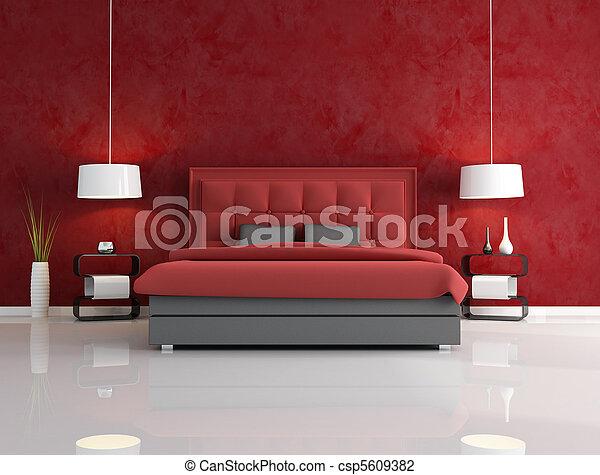 Lujo dormitorio rojo - csp5609382