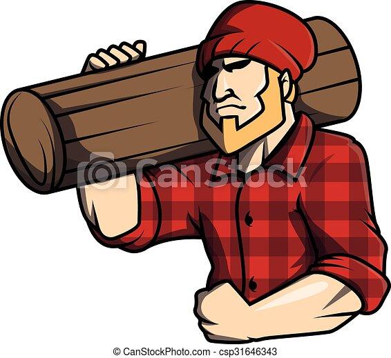 Lumber jack Illustration design - csp31646343