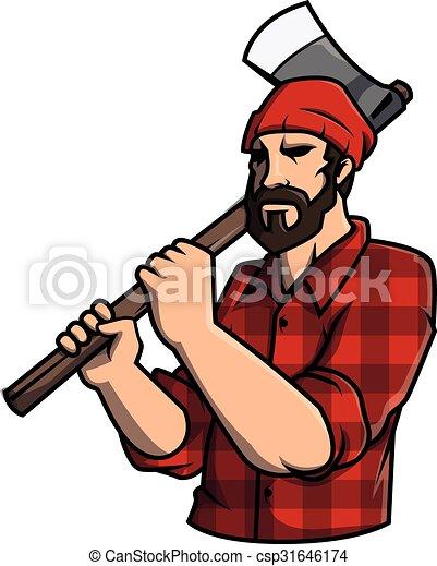 Lumber jack Illustration design - csp31646174