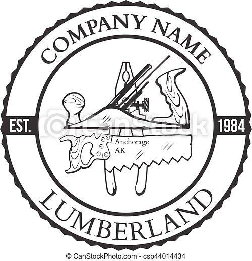 Lumber Shop Label Design Elements Vector - csp44014434