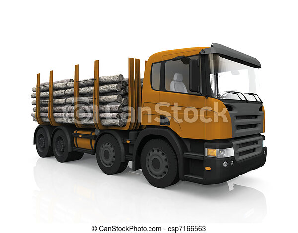 Lumber transport - csp7166563