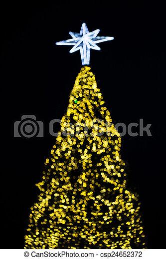 lumière, arbre, noël - csp24652372