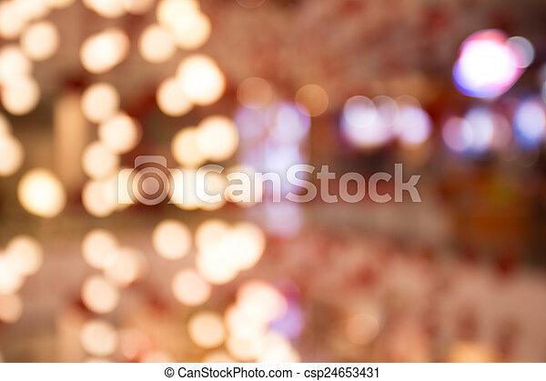 lumière, arbre, noël - csp24653431