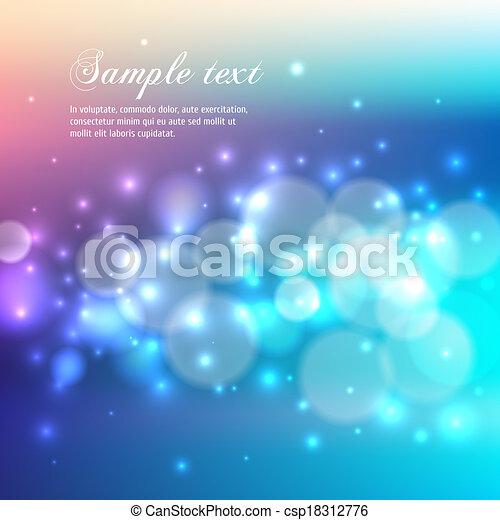 lumière bleue, bokeh, résumé, arrière-plan. - csp18312776