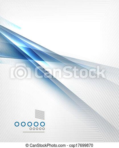 lumière bleue, directement, lignes, conception, ombre - csp17699870