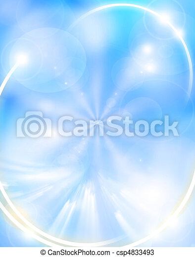 lumière bleue, résumé, fond - csp4833493