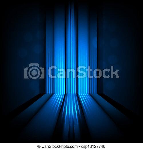 lumière bleue, résumé, lignes, fond - csp13127748