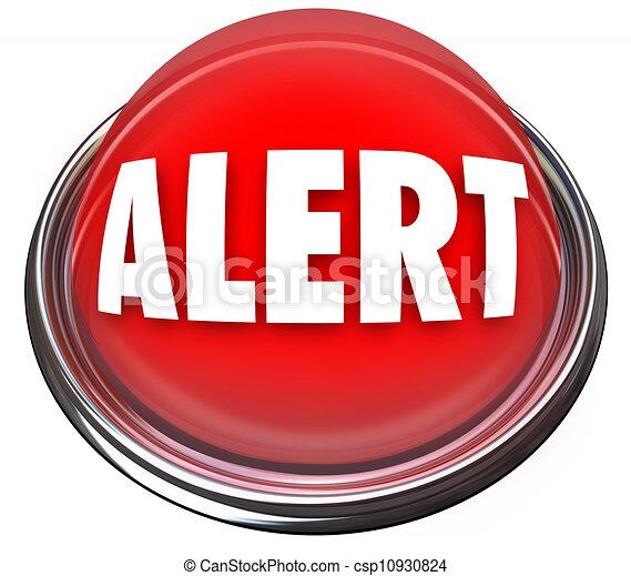 lumière, bouton, attention, alerte, clignotant, rond, rouges - csp10930824