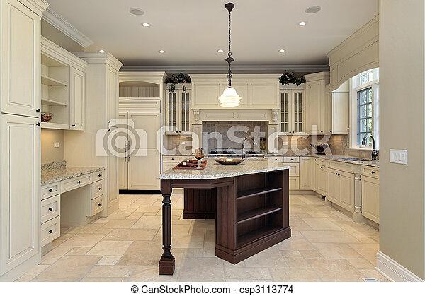 lumière, cabinetry, cuisine - csp3113774