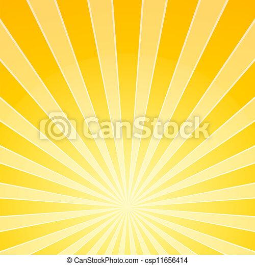lumière, clair, jaune, rayons - csp11656414