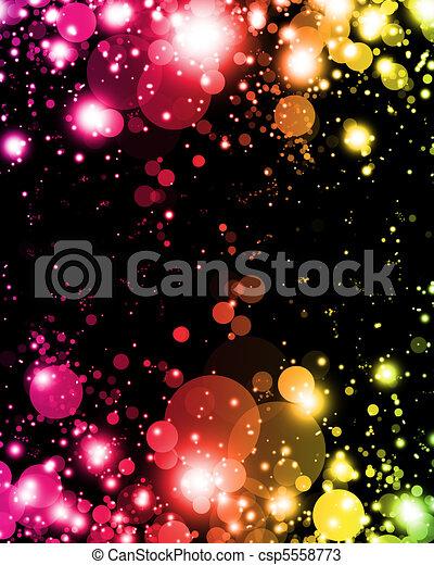 lumière colorée, résumé, nuances, vibrant, exciter - csp5558773