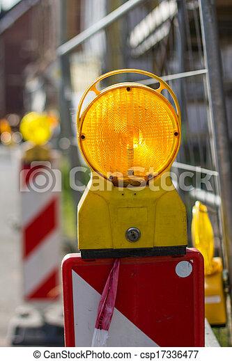 Solaire DEL Lampe Témoin bauleuchte absperrbarke Signal éclairage chantier travaux publics