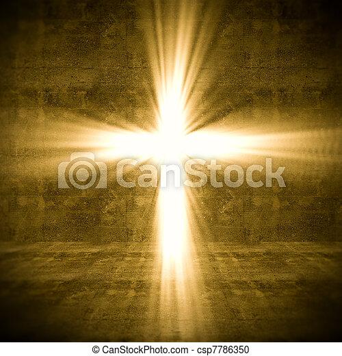 lumière, croix - csp7786350