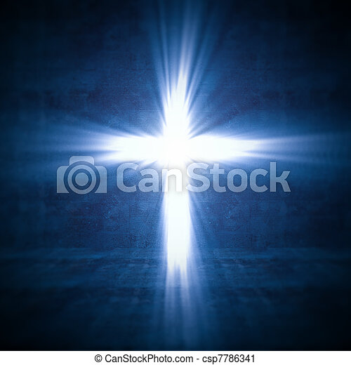 lumière, croix - csp7786341