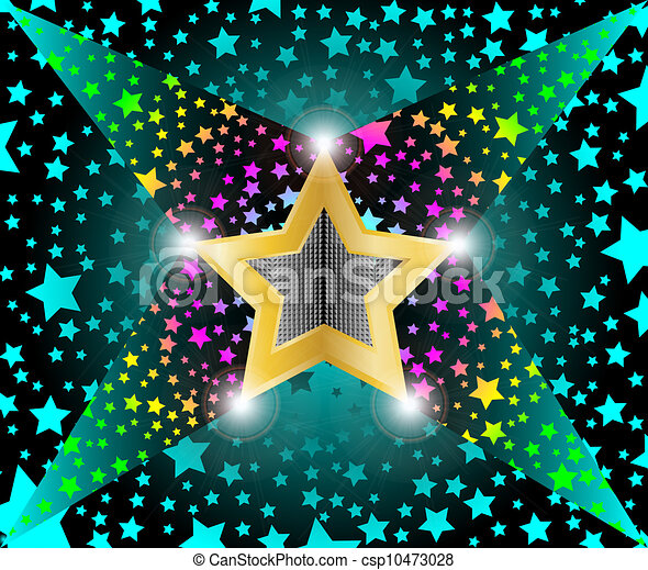 lumière, etoiles filantes, disco - csp10473028