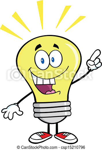 lumière, idée lumineuse, ampoule - csp15210796