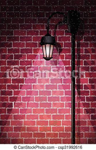lumière, rue - csp31992616