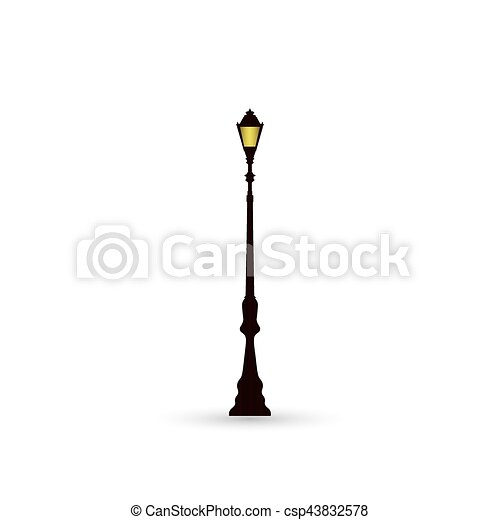 lumière, rue, icône - csp43832578
