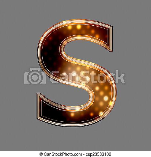 lumière, s, texture, incandescent, lettre, noël - csp23583102