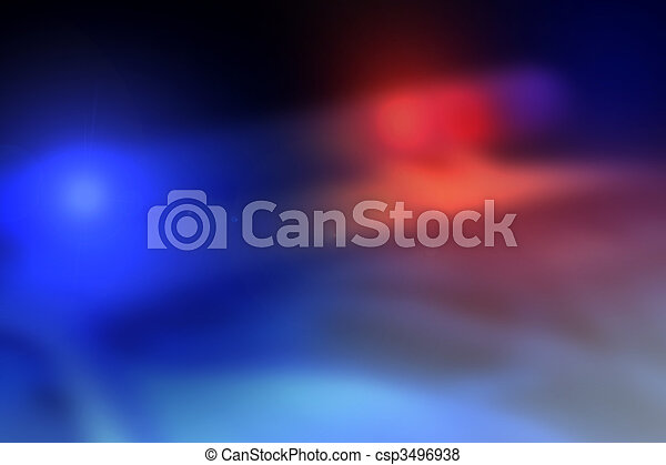lumière voiture, police, fond, barre - csp3496938