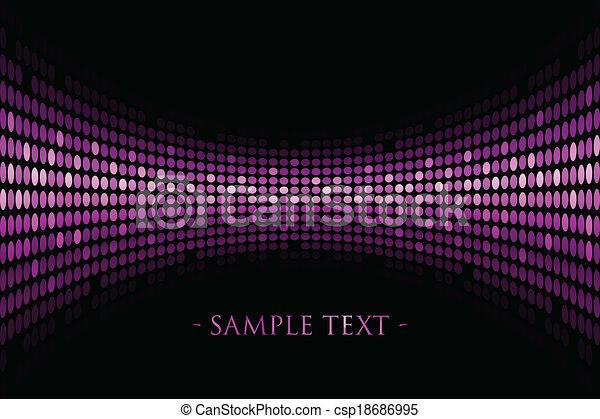 lumières, arrière-plan violet - csp18686995