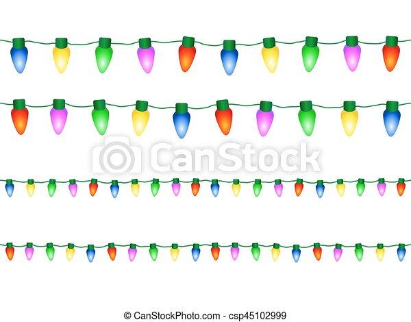 lumières décoratives, noël - csp45102999