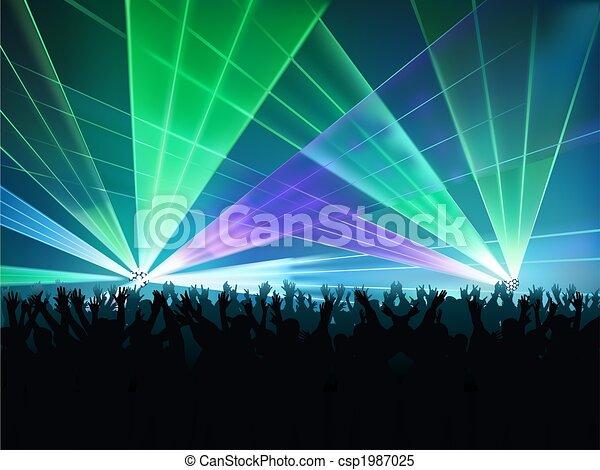 lumières, disco - csp1987025
