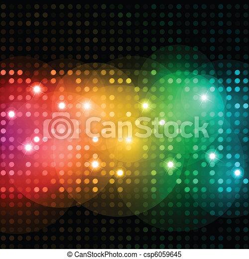 lumières, disco - csp6059645
