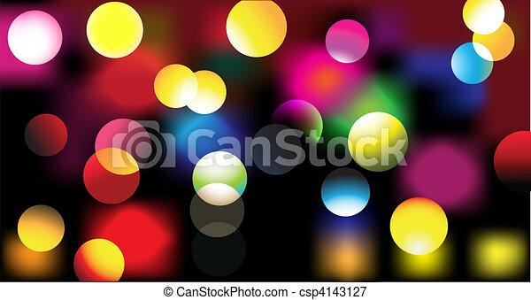 lumières, disco - csp4143127