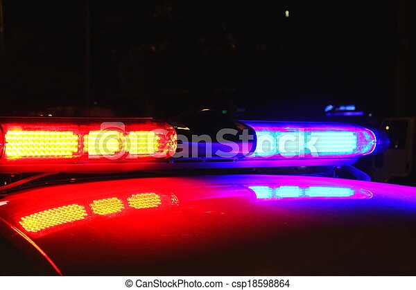 lumières, police, nuit - csp18598864