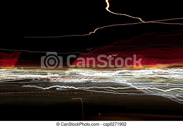 lumières, résumé, nuit - csp0271902