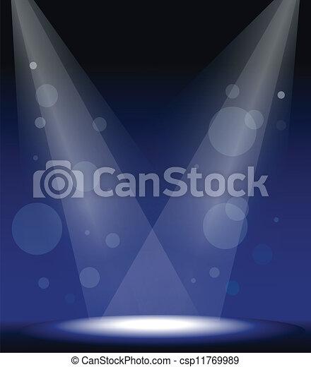 lumières, tache, étape - csp11769989
