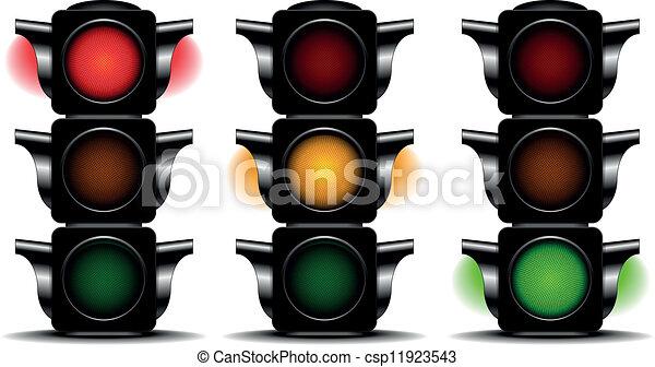 lumières, trafic - csp11923543