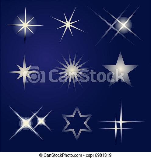luminoso, jogo, estrelas - csp16981319