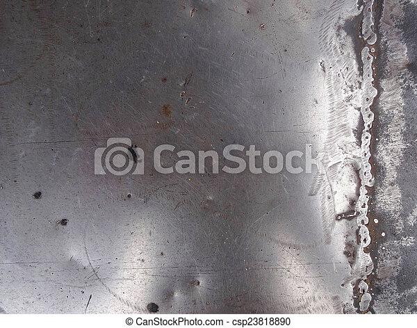 luminoso, metal, prata, textura - csp23818890