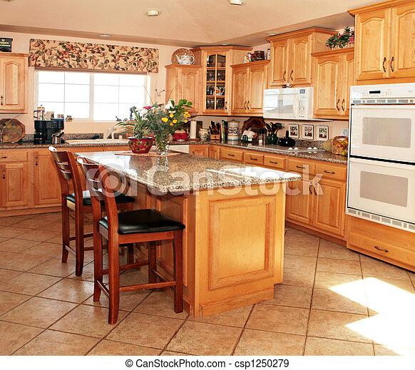 luminoso, modernos, casual, cozinha - csp1250279