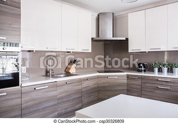 luminoso, spazioso, cucina - csp30326809