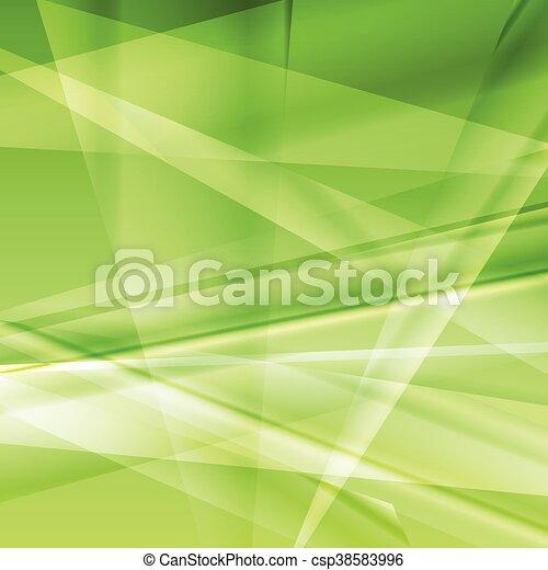 luminoso, vettore, estratto verde, fondo - csp38583996