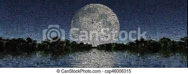 luna piena - csp46006315
