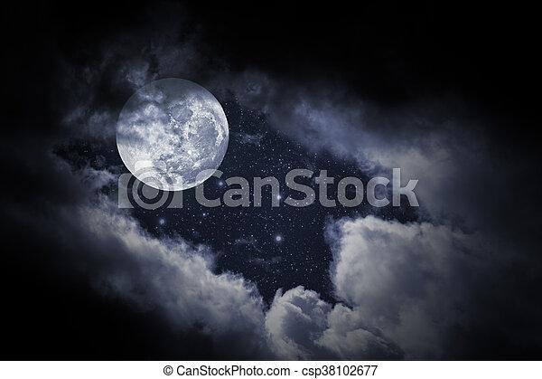 luna piena, notte - csp38102677