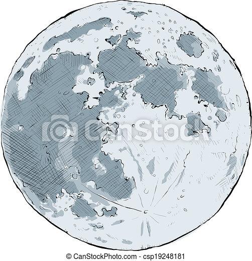luna piena - csp19248181