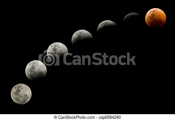 Lunar Eclipse on 15 June 2011 - csp6584290