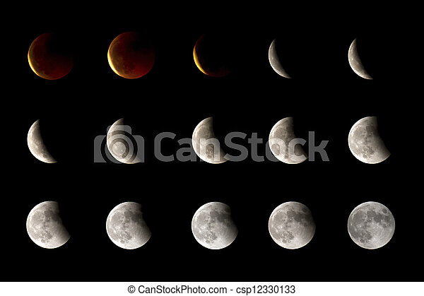 Lunar eclipse - csp12330133