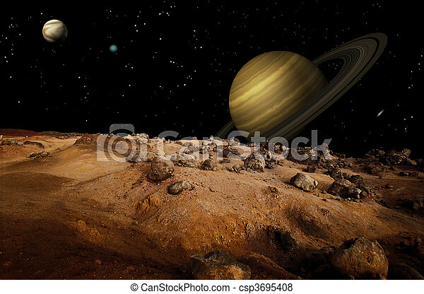 Lunar Landscape - csp3695408
