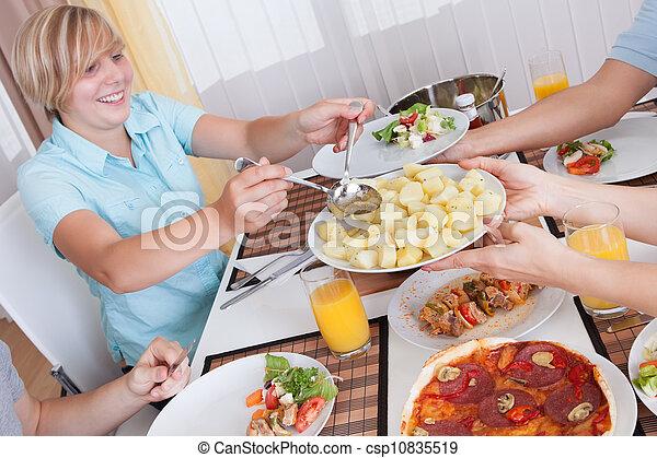 lunch, kall, äta, familj - csp10835519