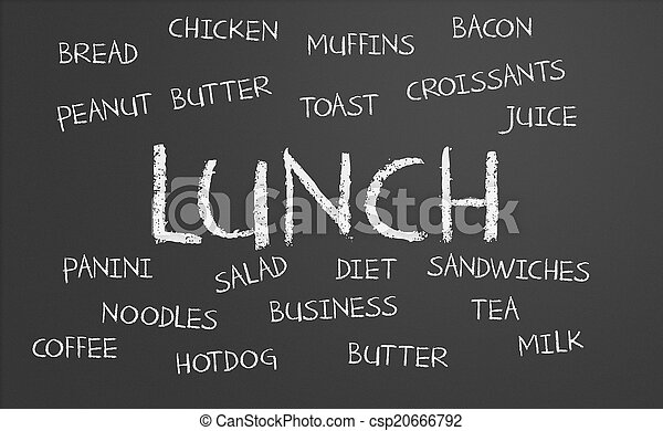 lunch, ord, moln - csp20666792